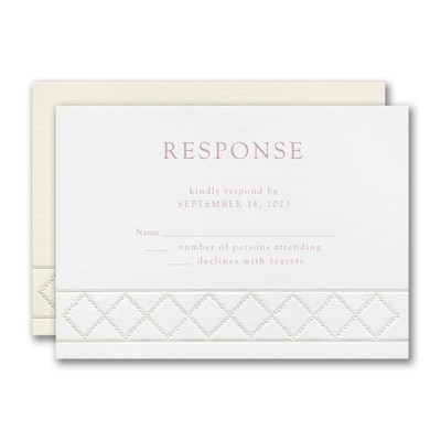 Dotted Link Response Card and Envelope