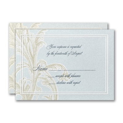 Sophisticated Flourish Response Card and Envelope