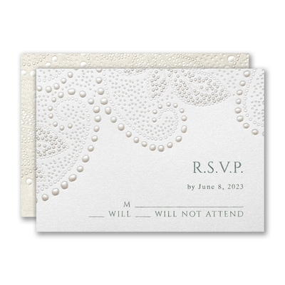 Paisley Leaf Response Card and Envelope