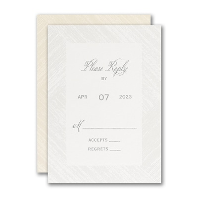 Simply Wooden Response Card and Envelope