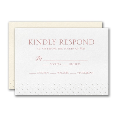 Lacy Flourish Response Card and Envelope