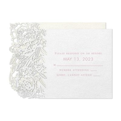 Rosy Elegance Response Card and Envelope