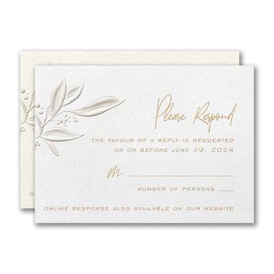 Fresh Foliage Response Card and Envelope
