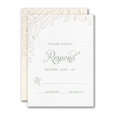 Lush Leafery Response Card and Envelope