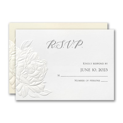 Perfect Peonies Response Card and Envelope