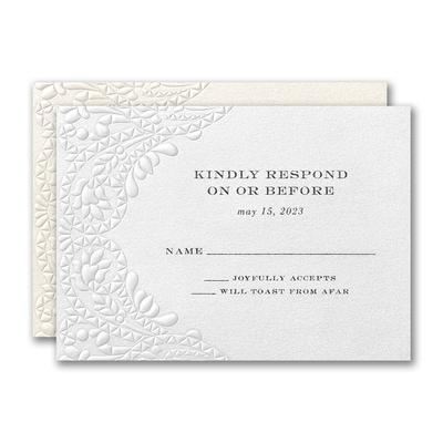 Elegant Blooms Response Card and Envelope