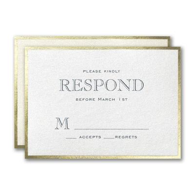 Golden Border Response Card and Envelope