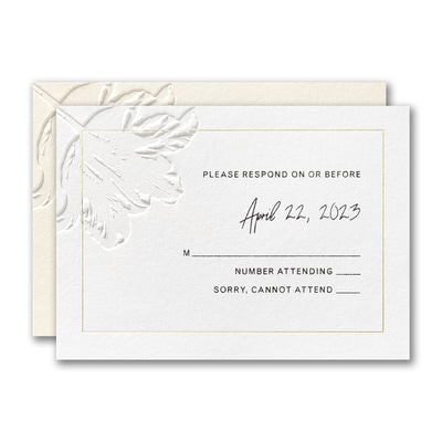 Floral Expression Response Card and Envelope