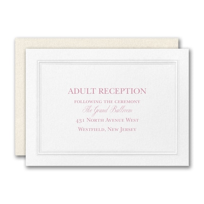 Regal Affair Reception Card