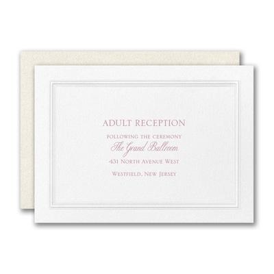 Regal Affair Reception Card