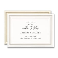 Timeless Border Reception Card