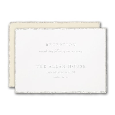 Pearl Feather Deckle Reception Card