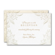 Floral Gate Reception Card