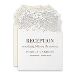 Intricate Greenery Reception Card