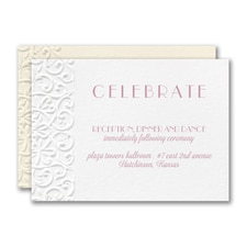 Classic Flourish Reception Card