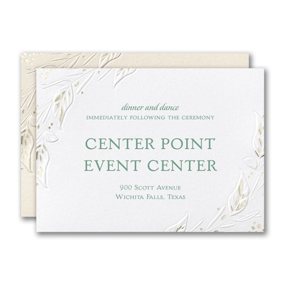 Wrapped in Foliage Reception Card