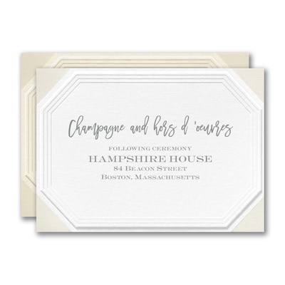 Emerald Embossed Reception Card