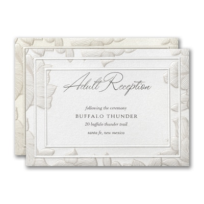 Lacy Emphasis Reception Card
