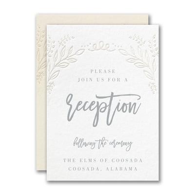Blooming Elegance Reception Card