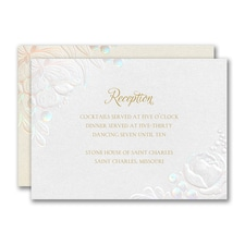 Enchanted Blooms Reception Card