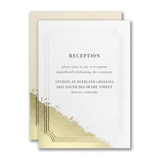 Golden Elegance Reception Card
