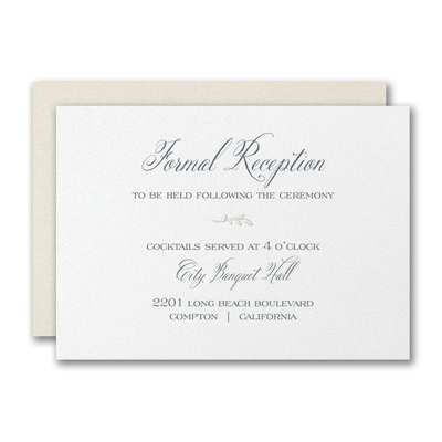Framed Monogram Reception Card