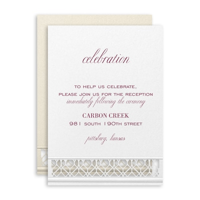 Loving Lattice Reception Card