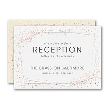 Speckled Geo Reception Card