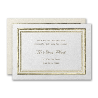 Textured Radiance Reception Card