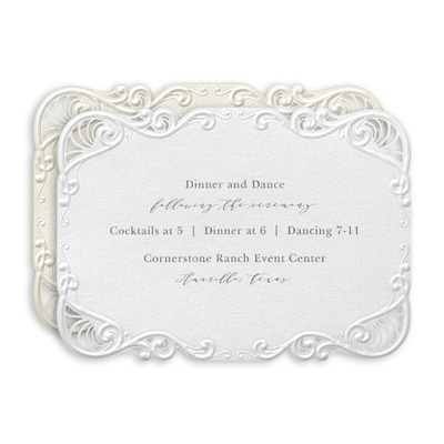 Filigree Swirls Reception Card