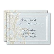 Sophisticated Flourish Reception Card