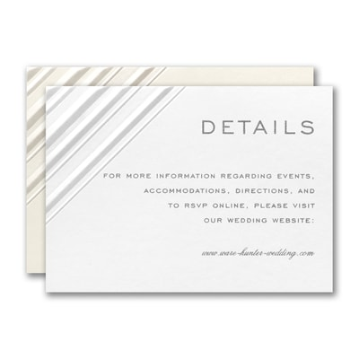 Embossed Diamond Reception Card