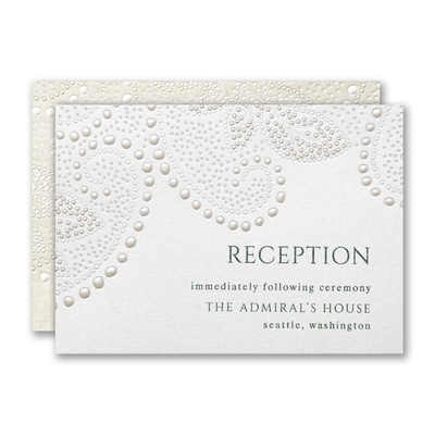 Paisley Leaf Reception Card