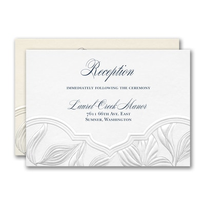 Contemporary Floral Reception Card