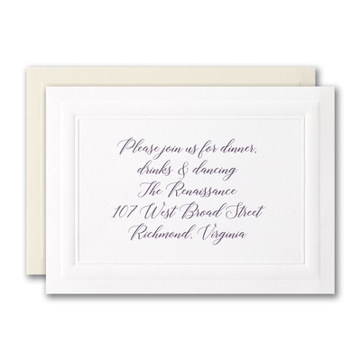 Classically Bordered Reception Card