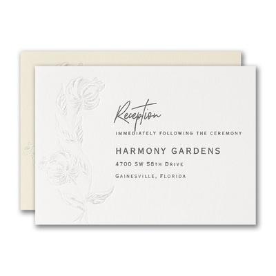 Cascading Flowers Reception Card
