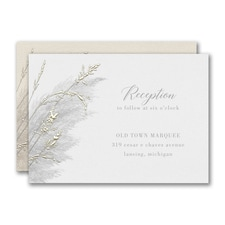 Prairie Long Grass Reception Card