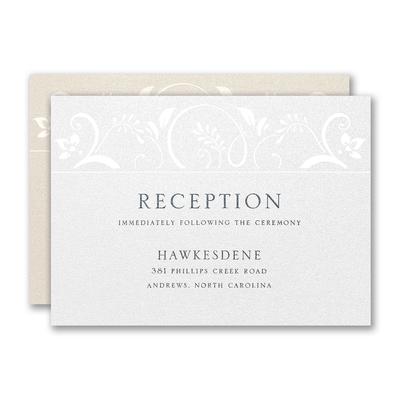 Simply Flourishing Reception Card