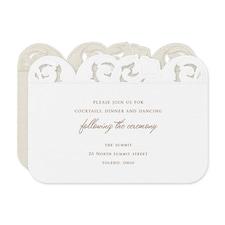 Ornate Flourish Reception Card