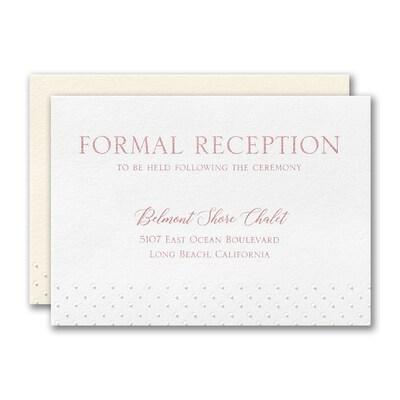 Lacy Flourish Reception Card