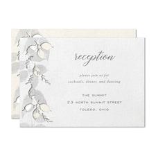 Lasered Foliage Reception Card