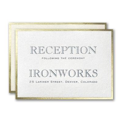 Golden Border Reception Card