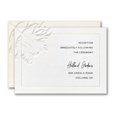 Floral Expression Reception Card