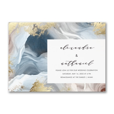 Enchanted Marble Invitation