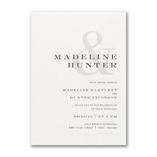 Modern Ampersand Invitation  - Modern Invitation