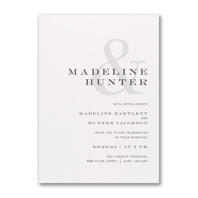 Modern Ampersand Invitation