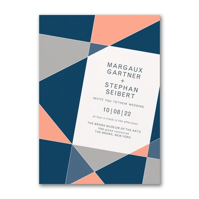 Geometric Color Block Invitation