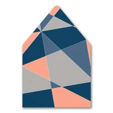 Geometric Color Block Envelope Liner