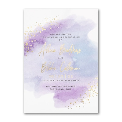 Watercolor Dreams Invitation