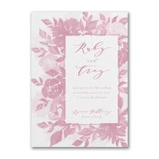 Vintage wedding invitation: Botanical Elegance Invitation